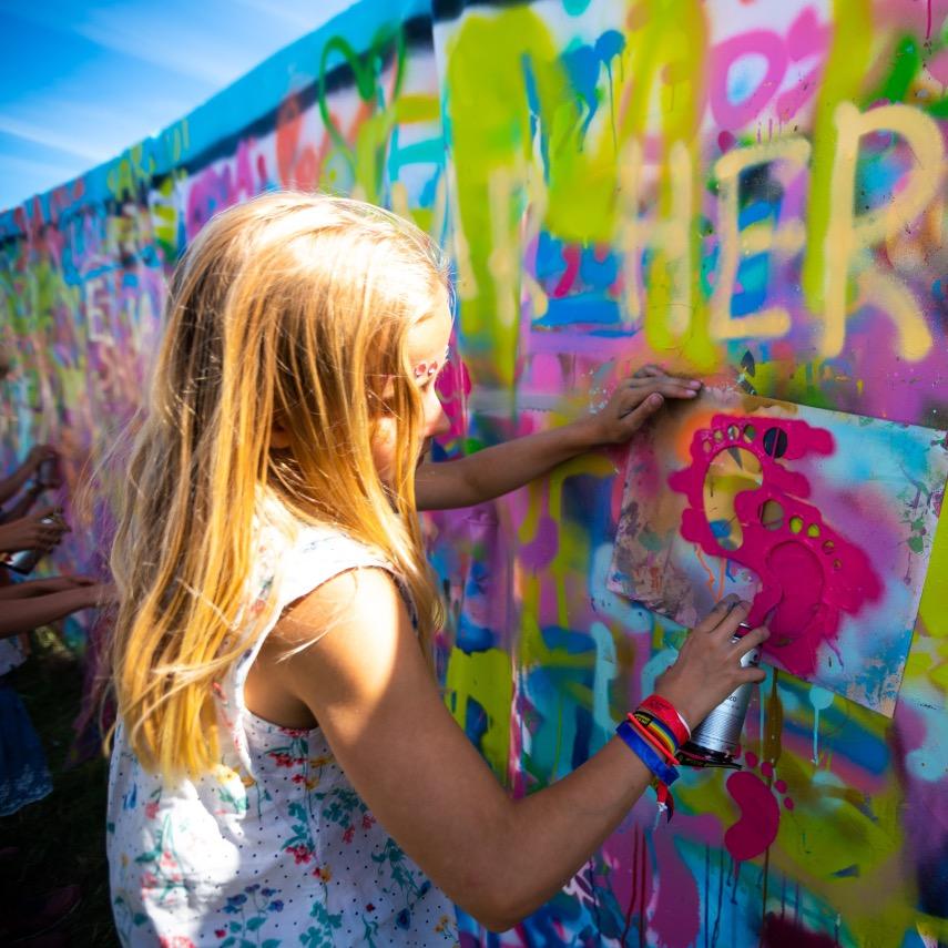 barn tagge graffiti på workshops