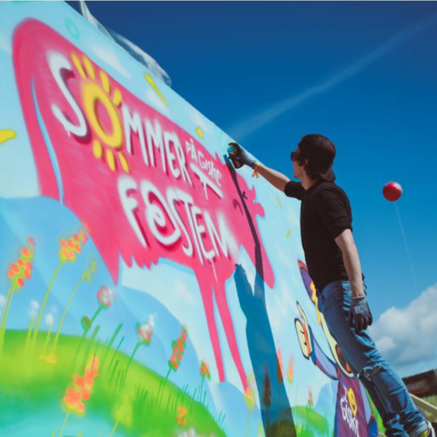 Sommerfesten på Giske graffiti vegg