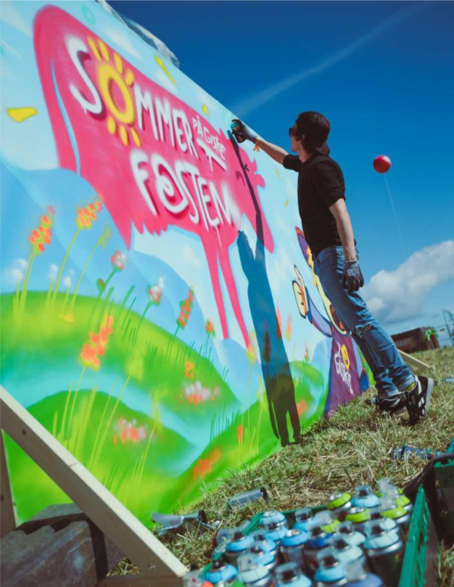 Festival Ålesund maling av graffiti live