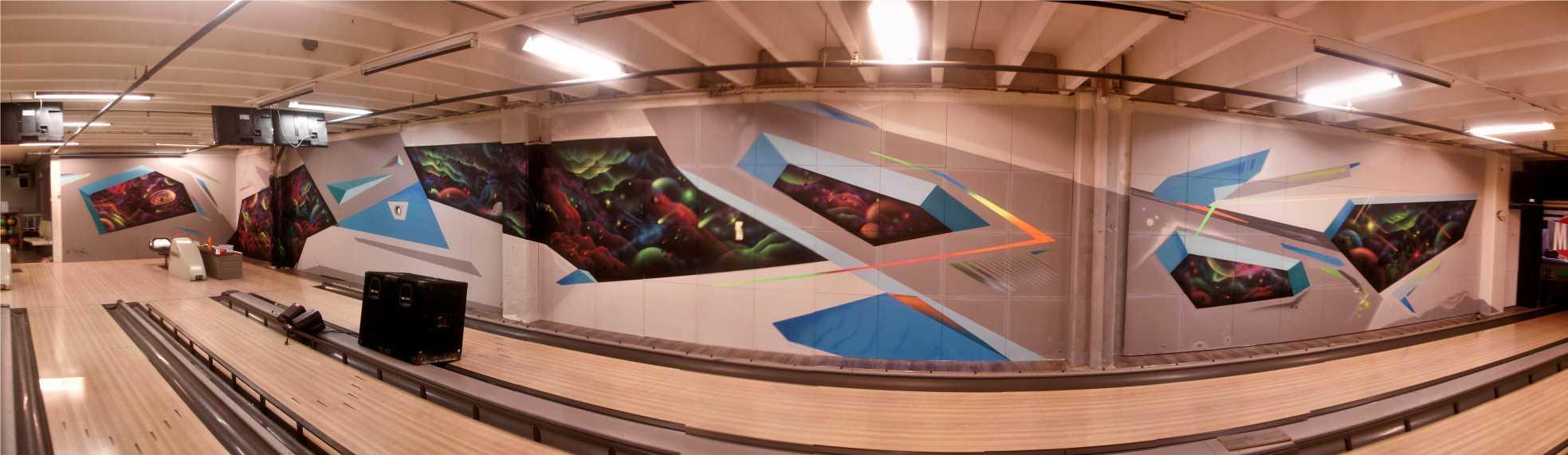 Selvlysende graffiti Askøy bowling