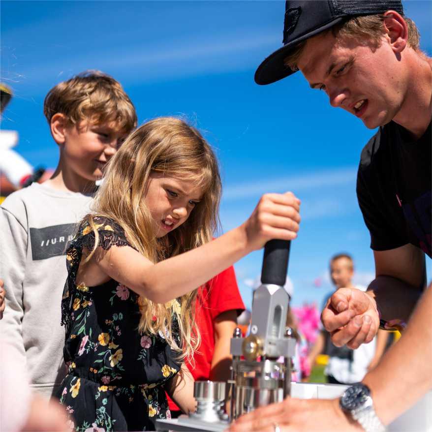 barneaktiviteter på festivaler