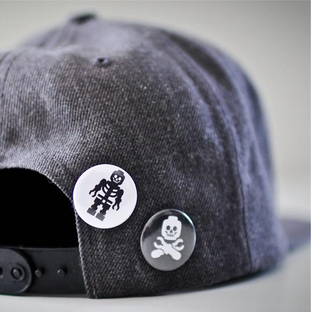 buttons på caps