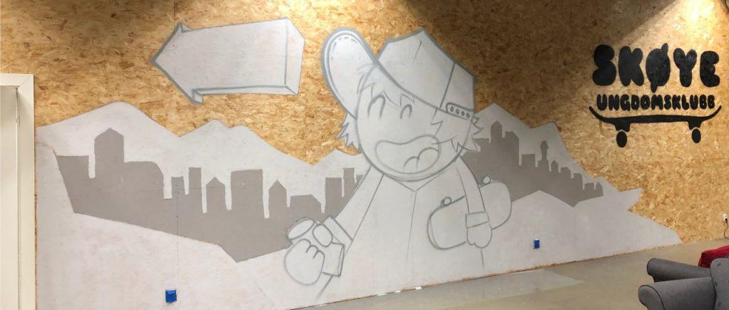 sketch av urban style graffiti